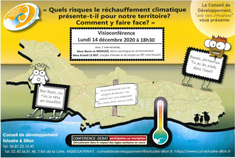 Visioconférence sur l'impact du réchauffement climatique en Estuaire et Sillon